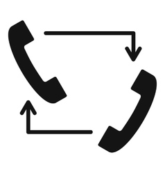 Handsets with arrows icon simple style vector