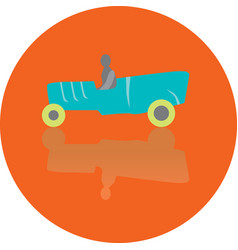 icon toy of car vector image