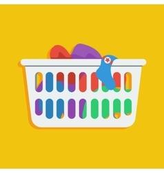 Laundry basket icon vector
