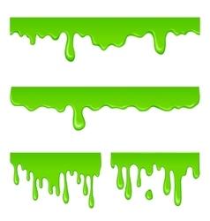 New green slime set vector