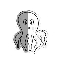 Octopus sea animal vector image