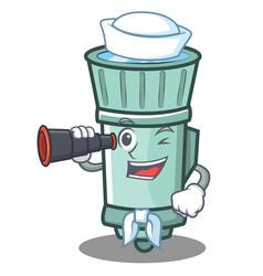 Sailor flashlight cartoon character style vector