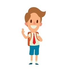 School kid character vector