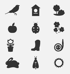 Set collection icons of color springs vector