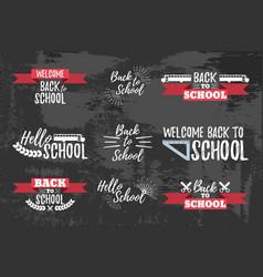 Set of school typographic - vintage style vector