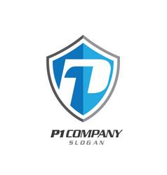 shield symbol logo vector image