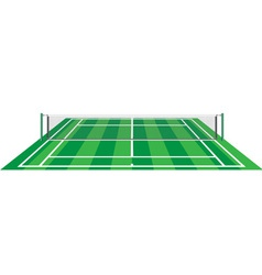 tennis court with net vector image vector image