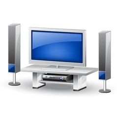 tv home theatre vector image vector image
