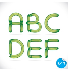 Unique Glossy Balloon Alphabet vector image