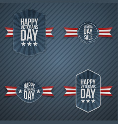 Veterans day patriotic banners vector
