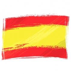 Grunge spain flag vector
