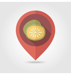 Kiwi flat pin map icon tropical fruit vector