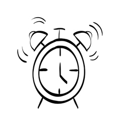 Time alarm clock vector image
