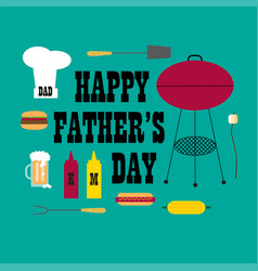 Fathers day bbq vector