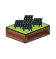 Solar panel modern technologies alternative energy vector