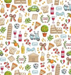 Italian style seamless pattern vector image