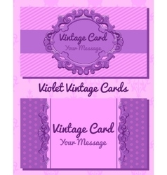 Violet vintage horizontal card vector