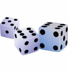 three dices vector image