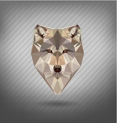 Abstract triangle polygonal wolf snout origami vector