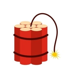 Red dynamite sticks icon vector