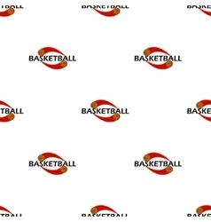 Pattern basketball text vector