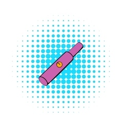 Electronic cigarette cartridge icon comics style vector