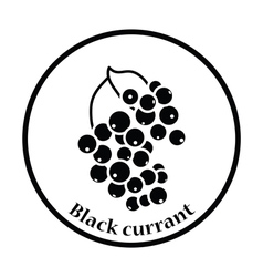 Icon of black currant vector