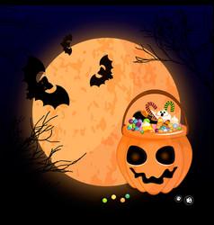 a scary halloween design vector image vector image
