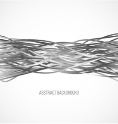 Absract gray background with horizontal lines vector image vector image