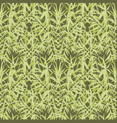 Bamboo seamless japanese pattern on green vector