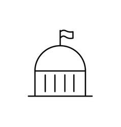 City hall icon vector