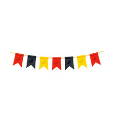 colorful flags in color of german flag decoration vector image
