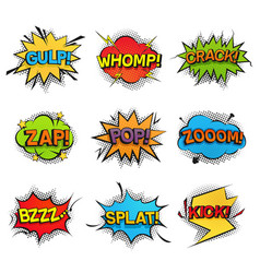comic funny speech bubbles collection set of vector image vector image