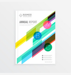 Company brochure template design with colorful vector