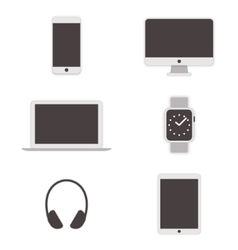 Computer icons set vector