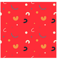 Curvy kids funny seamless pattern vector