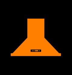 Exhaust hood kitchen ventilation sign orange vector