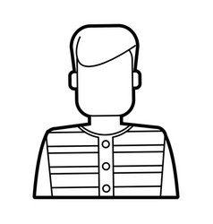 Faceless man with striped shirt icon image vector