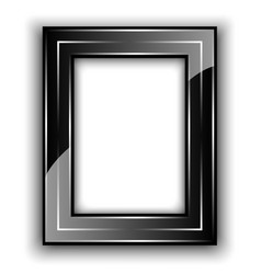 Frame for photo black with metal lines vector