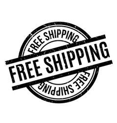 free shipping rubber stamp vector image
