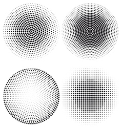 Halftone dot pattern vector