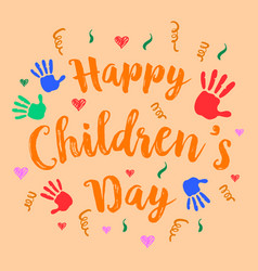Happy childrens day celebration style vector