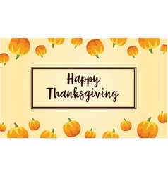 Happy thanksgiving greeting card style vector