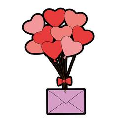 heart balloons icon vector image vector image