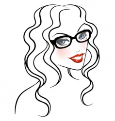 in glasses vector image