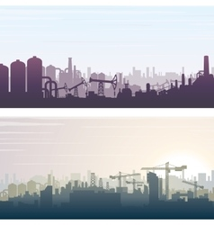 Industrial and construction banner background vector