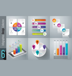 Infographics design set with 3 4 and 5 options vector
