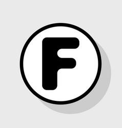 Letter f sign design template element vector