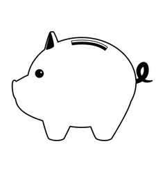 Piggy bank saving or accumulation of money vector