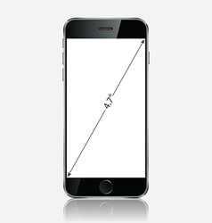 Realistic black mobile apple iphone 6 plus vector